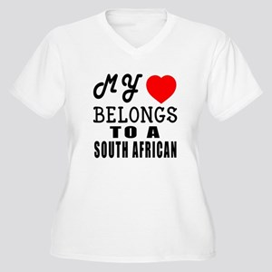 I Love South Afri Women's Plus Size V-Neck T-Shirt