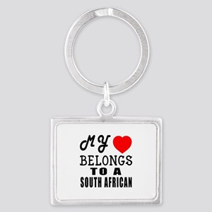 I Love South African Landscape Keychain