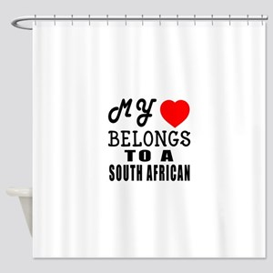 I Love South African Shower Curtain