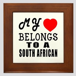 I Love South African Framed Tile