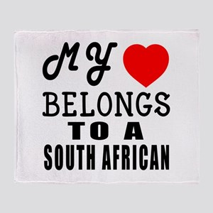 I Love South African Throw Blanket