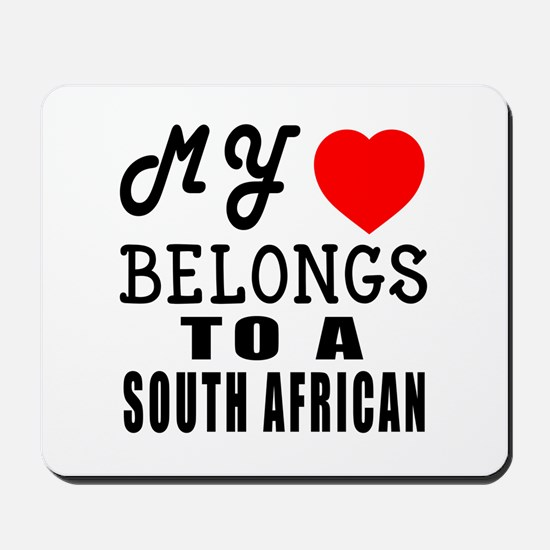 I Love South African Mousepad
