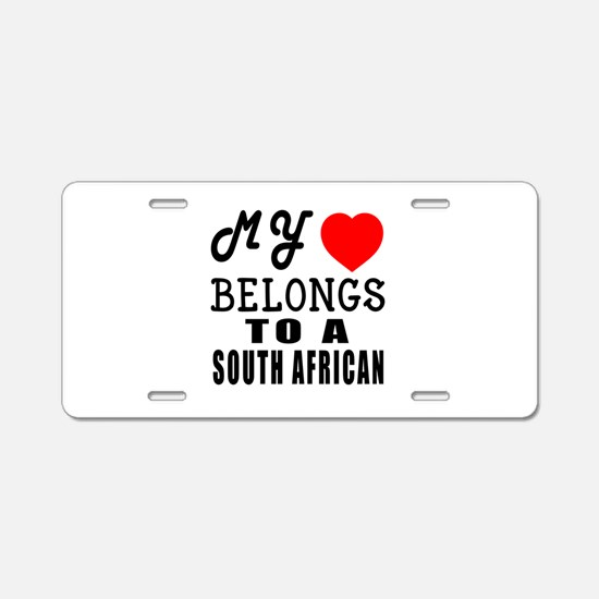 I Love South African Aluminum License Plate