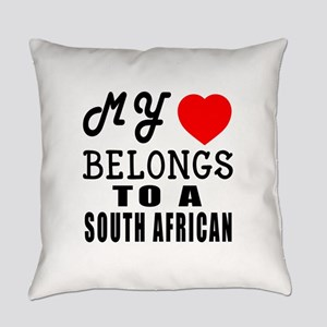 I Love South African Everyday Pillow