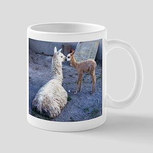 mom and baby llama Mug