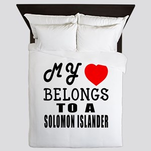 I Love Solomon Islander Queen Duvet