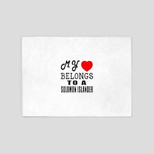 I Love Solomon Islander 5'x7'Area Rug