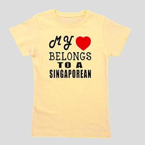 I Love Singaporean Girl's Tee