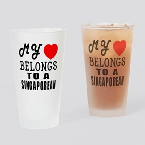 I Love Singaporean Drinking Glass
