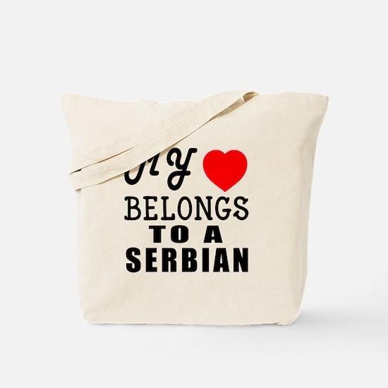 I Love Serbian Tote Bag