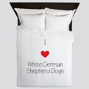 I love White German Shepherd Dogs Queen Duvet
