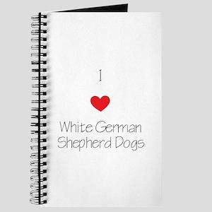 I love White German Shepherd Dogs Journal