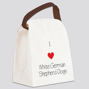 I love White German Shepherd Dogs Canvas Lunch Bag