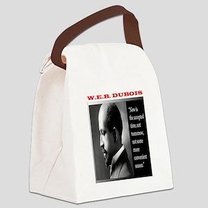 W E B DUBOIS Canvas Lunch Bag