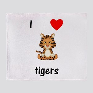 I love tigers Throw Blanket