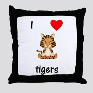 I love tigers Throw Pillow