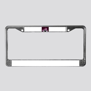 Pink Purple Geraniums License Plate Frame
