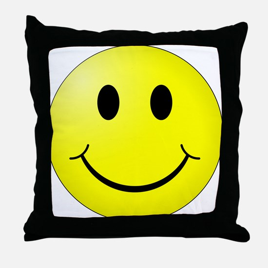 Classic Smiley Throw Pillow