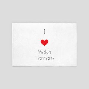 I Love Welsh Terriers 4' X 6' Rug