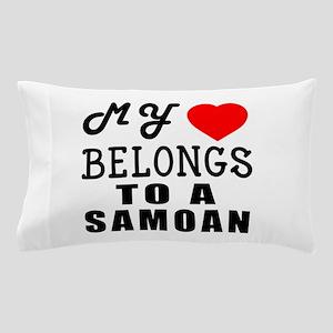 I Love Samoan Pillow Case