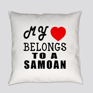 I Love Samoan Everyday Pillow