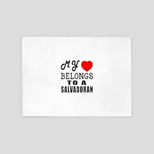 I Love Sao Salvadoran 5'x7'Area Rug