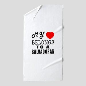 I Love Sao Salvadoran Beach Towel