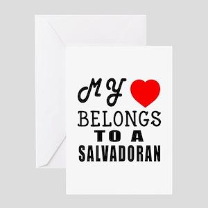 I Love Sao Salvadoran Greeting Card
