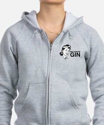 May contain gin Zip Hoodie