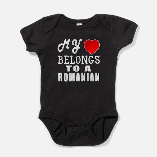 I Love Romanian Baby Bodysuit