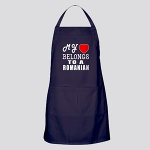 I Love Romanian Apron (dark)