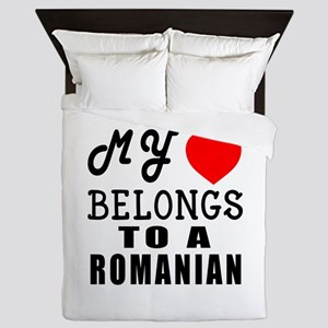 I Love Romanian Queen Duvet