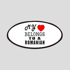 I Love Romanian Patch