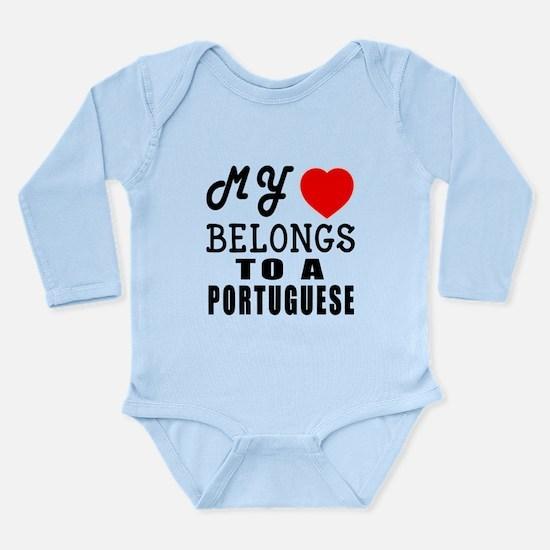 I Love Portuguese Long Sleeve Infant Bodysuit