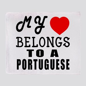 I Love Portuguese Throw Blanket
