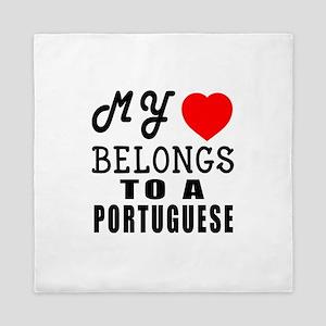 I Love Portuguese Queen Duvet
