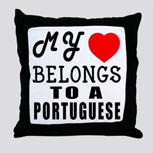 I Love Portuguese Throw Pillow