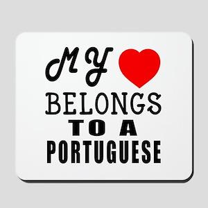 I Love Portuguese Mousepad