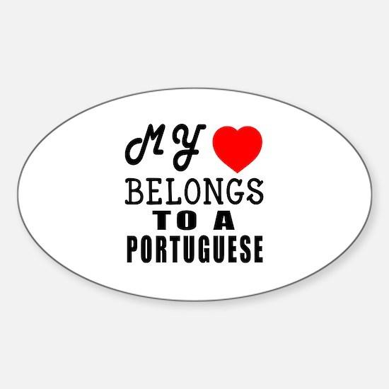 I Love Portuguese Sticker (Oval)