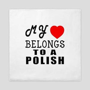I Love Polish Queen Duvet