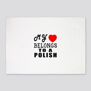 I Love Polish 5'x7'Area Rug
