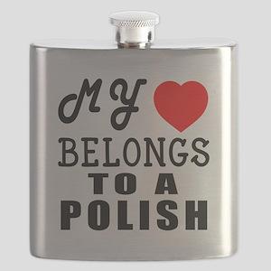 I Love Polish Flask