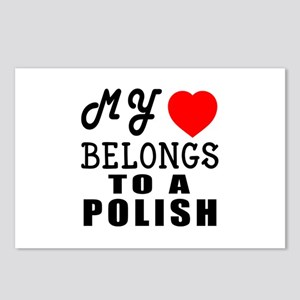 I Love Polish Postcards (Package of 8)