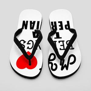 I Love Peruvian Flip Flops