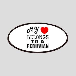 I Love Peruvian Patch