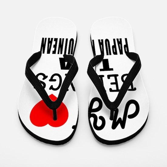 I Love Papua New Guinean Flip Flops