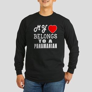 I Love Panamanian Long Sleeve Dark T-Shirt