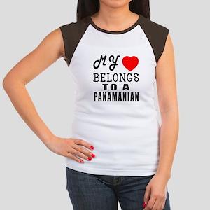 I Love Panamanian Junior's Cap Sleeve T-Shirt