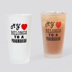 I Love Panamanian Drinking Glass
