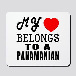I Love Panamanian Mousepad